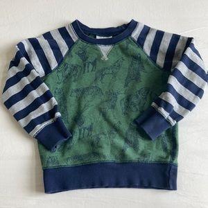 Hanna Andersson animal print fleece pullover 100